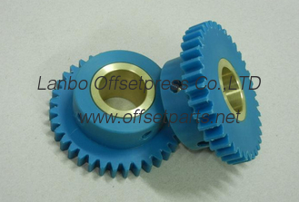 China komori damping roller gear 36 tooth L-26/28 machine , high quality printing machine spare part supplier