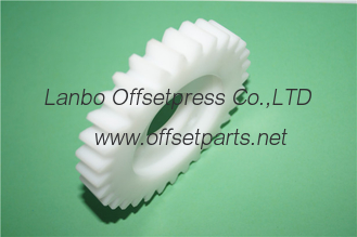 China good quality cheap white rubber gear for offset printing machine supplier